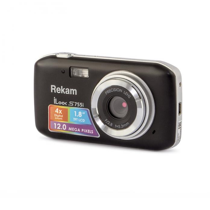 Цифровая камера Rekam iLook S755i (черный); S755i BL