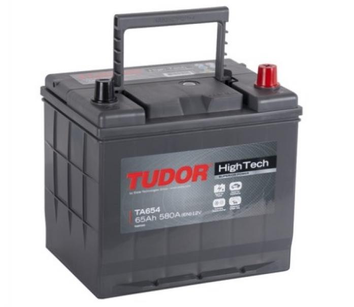 Аккумулятор Tudor High-Tech 65 А/ч TA654 высокий обр