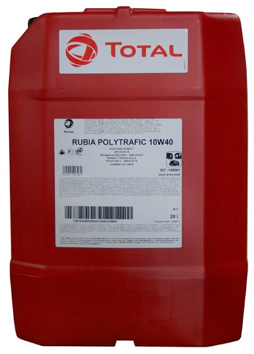Масло моторное Total Rubia Polytrafic 10w40 ПолуСинтетика (20л)