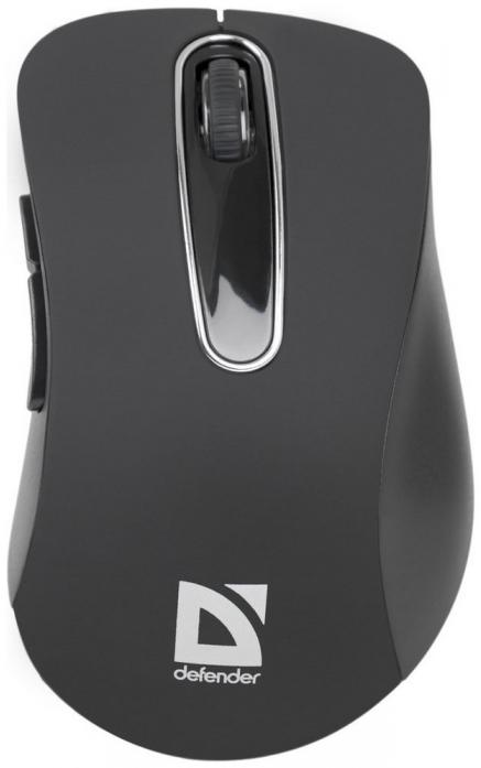 Беспроводная оптическая мышь Defender Datum MM-075 черный (52075)