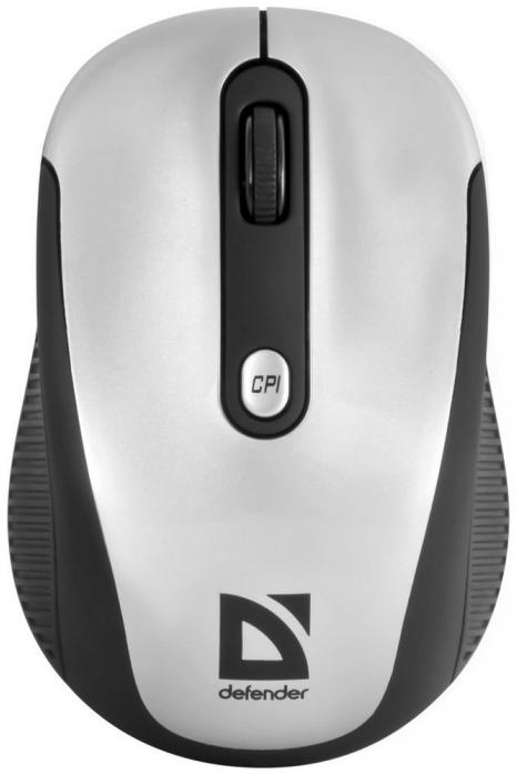 Беспроводная IR-лазерная мышь Defender Optimum MS-125 серый (52125)