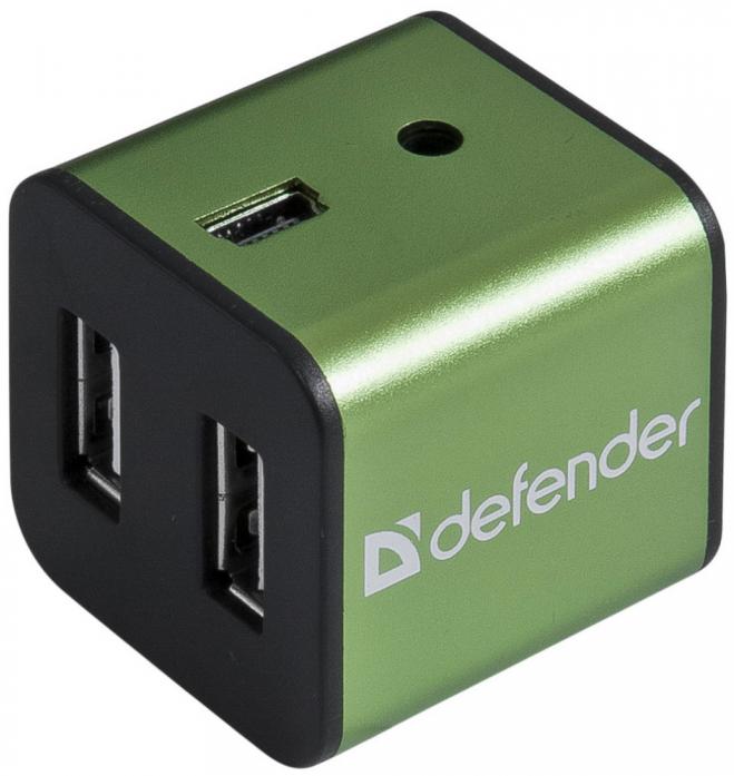 Универсальный USB разветвитель Defender QUADRO IRON USB2.0 (83506)