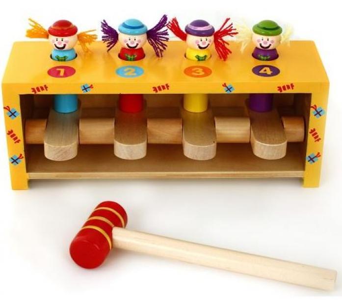 Игровой набор Mapacha с молоточком Прыгающие клоуны 76540