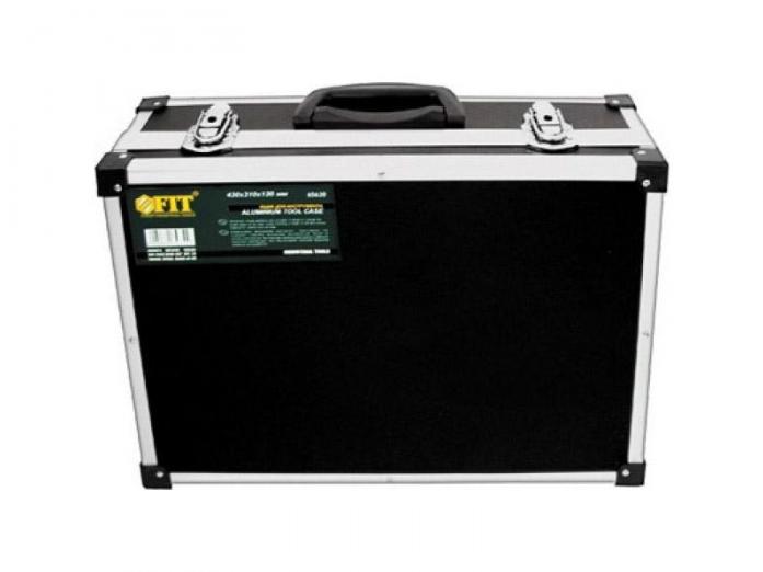 Ящик-чемодан алюминиевый для инструмента FIT 65630 (430x310x130 мм)
