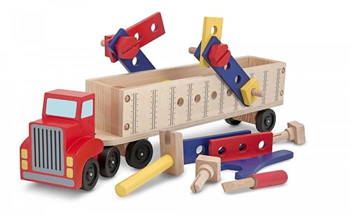 Набор Melissa&Doug Классические игрушки: Конструктор в прицепе 2758