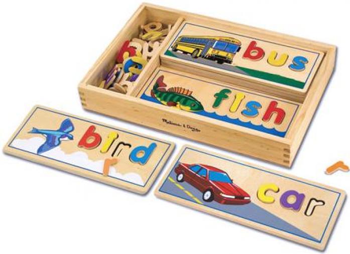 Набор Melissa&Doug Классические игрушки: Подбор букв по картинкам 2940