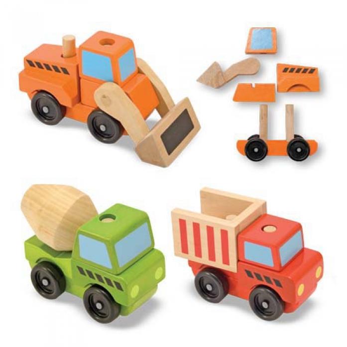 Конструктор Melissa&Doug Классические игрушки: Строительный транспорт 3076