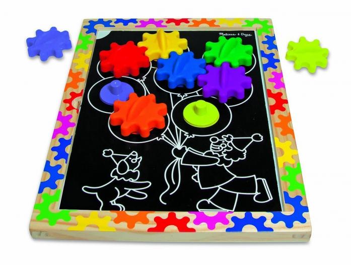 Набор Melissa&Doug Первые навыки: Разноцветные колесики (на магнитах) 3745