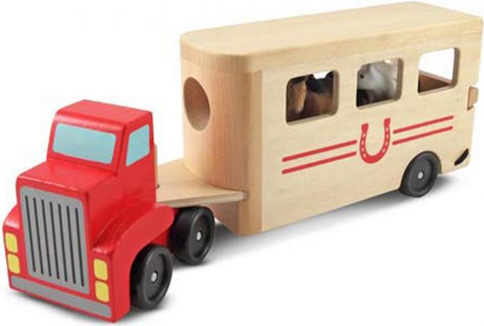 Машинка Melissa&Doug Машинка для перевозки лошадей 4097