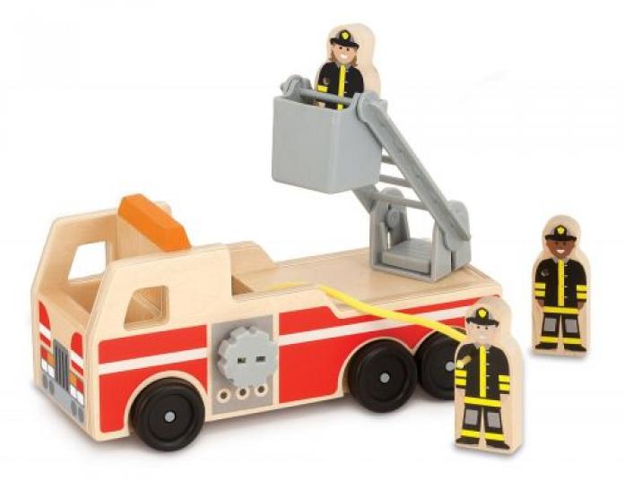 Машинка Melissa&Doug Классические игрушки: пожарная машина 9391M