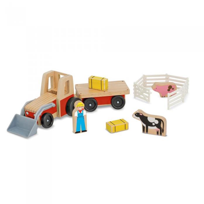 Машинка Melissa&Doug Классические игрушки: Фермерский трактор 9392