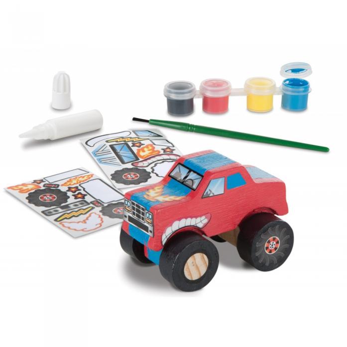 Машинка Melissa&Doug Классические игрушки: Деревянный грузовик-монстер 9524M
