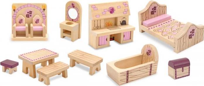 Набор Melissa&Doug Создай свой мир: Набор мебели (для замка принцессы) 3570