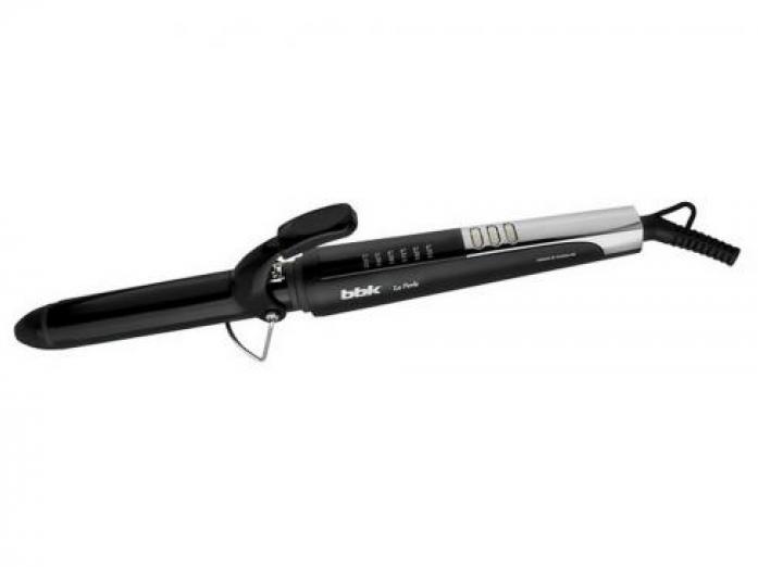 Щипцы для завивки волос BBK BST1020 черный/металлик