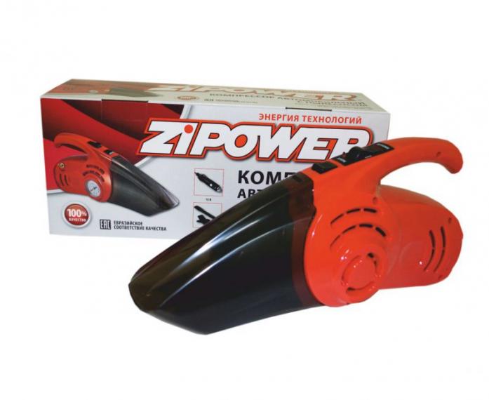 Автомобильный компрессор с пылесосом Zipower PM 6510