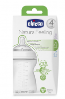 Бутылочка Chicco Natural Feeling 4мес 250мл 310205014