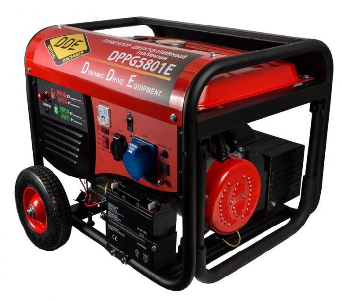 Генератор газ-бензин DDE DPPG5801E