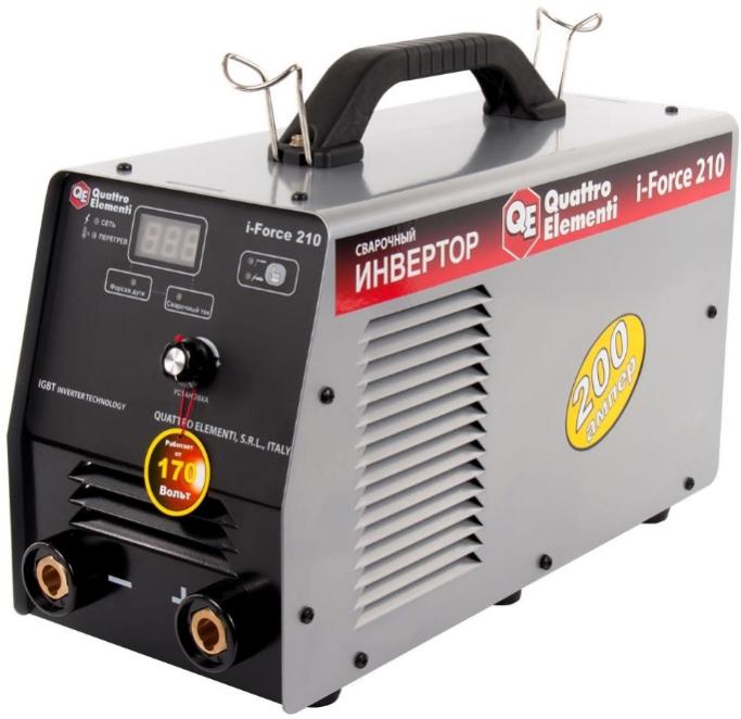 Инверторный аппарат электродной сварки QUATTRO ELEMENTI i-FORCE 210 771-602