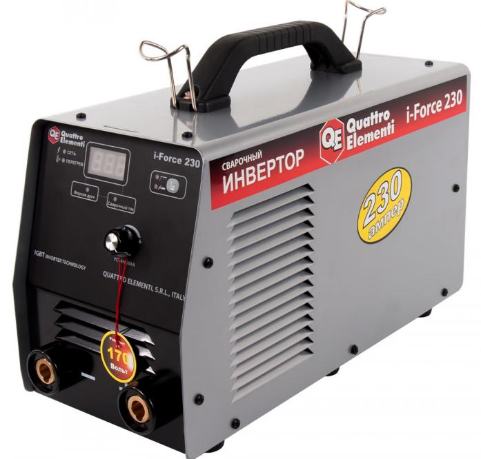 Инверторный аппарат электродной сварки QUATTRO ELEMENTI i-FORCE 230 771-619