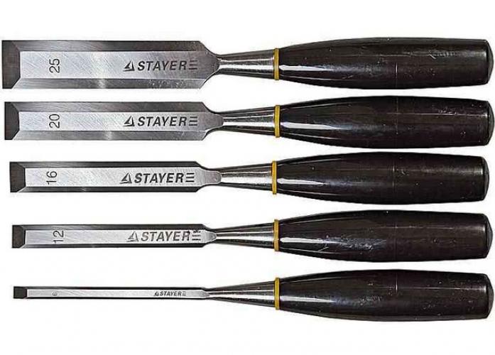 Набор стамесок MASTER с пластмассовой ручкой (6; 12; 16; 20; 25 мм; 5 шт) STAYER 1820-H5