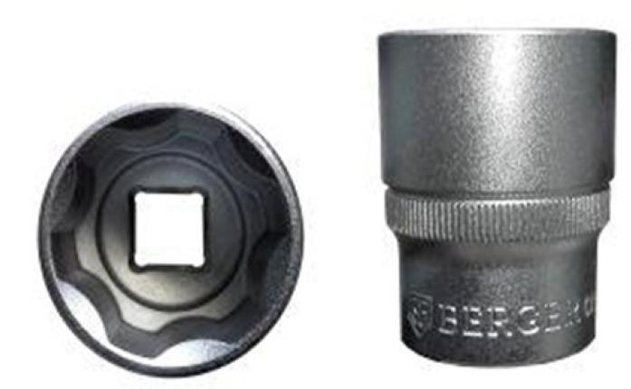 Головка торцевая 1/2 6-гранная Berger BG SuperLock 12 мм BG-12S12
