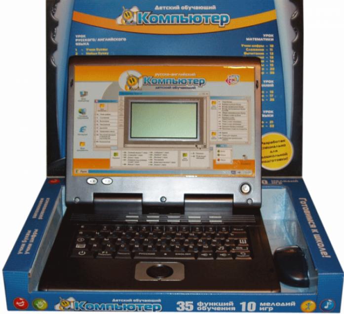 Компьютер JOY TOY русско-английский обучающий 7004