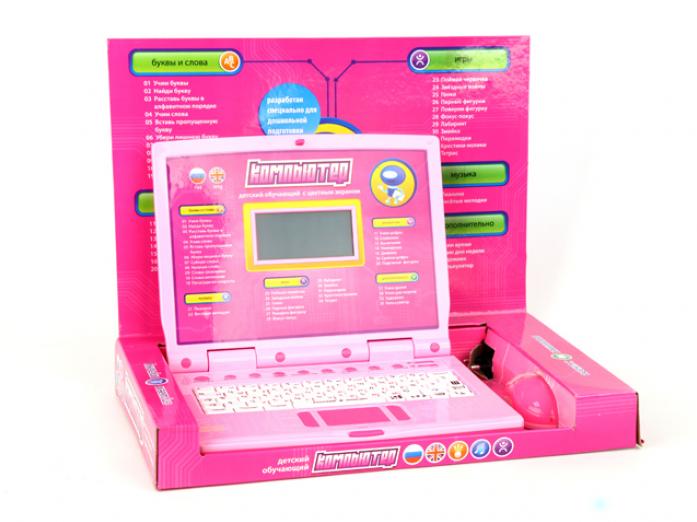 Компьютер обучающий JOY TOY русско-английский с мышкой и цветным дисплеем 7161