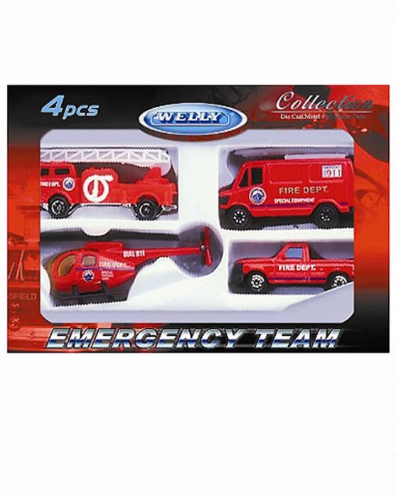 Игровой набор Welly Служба спасения - пожарная команда 98630-4C