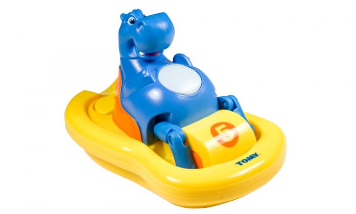 Игрушка для ванной Tomy Бегемот на катамаране T2161