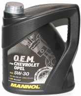 Масло моторное Mannol (SCT) 7701 O.E.M. for Chevrolet Opel 5W30 синт (4л)
