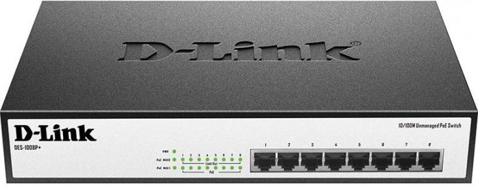 Коммутатор (switch) D-LINK DES-1008P+/A1A