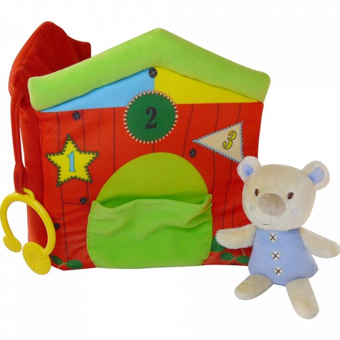 Игрушка развивающая Biba Toys Мишка-книжка BB044
