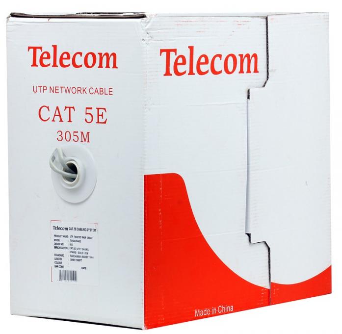 Сетевой кабель бухта 305м UTP 5e Telecom TUS 42040E/42048E/62040E
