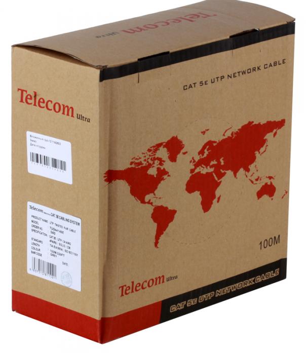 Сетевой кабель бухта 100м UTP 5e Telecom Ultra TUS44148E