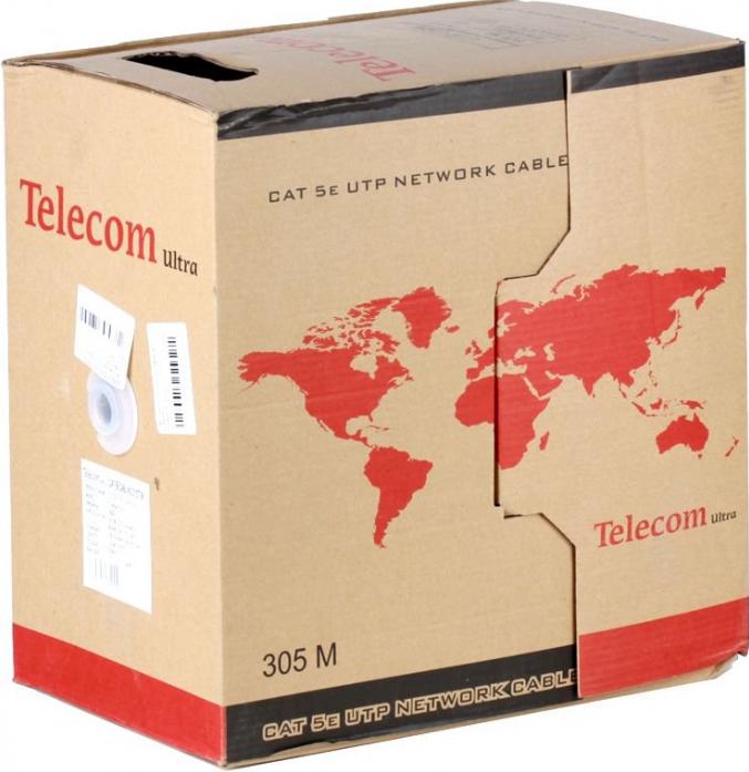 Сетевой кабель бухта 305м UTP 5e Telecom Ultra TUM34702E/34102E