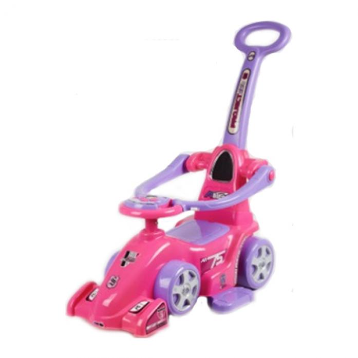 Каталка NINGBO PRINCE Болид F1 с ручкой розовый 602W
