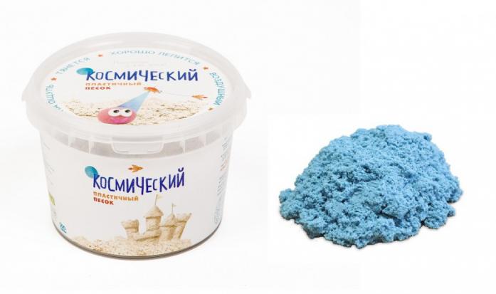 Песок для лепки Космический песок Голубой 0,5 кг (в банке)Т57724