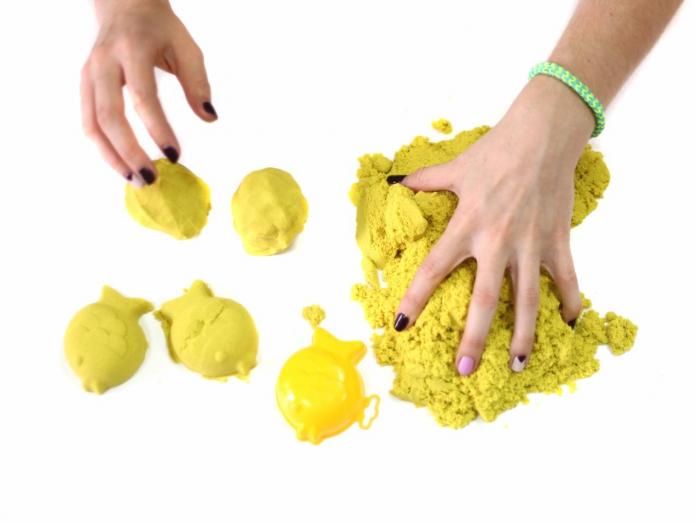 Песок для лепки Космический песок Желтый 0,5 кг (в банке) Т57728