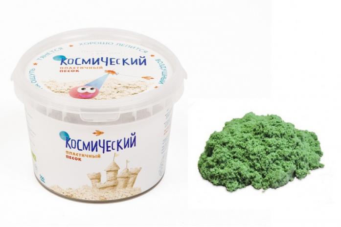Песок для лепки Космический песок Зеленый 0,5 кг (в банке) Т57727