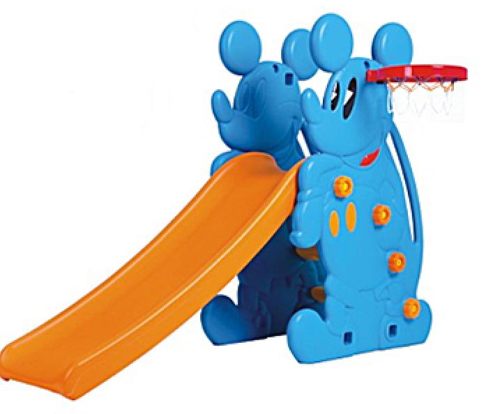Горка QiaoQiao Микки + баскетбольное кольцо QQ517 голубой
