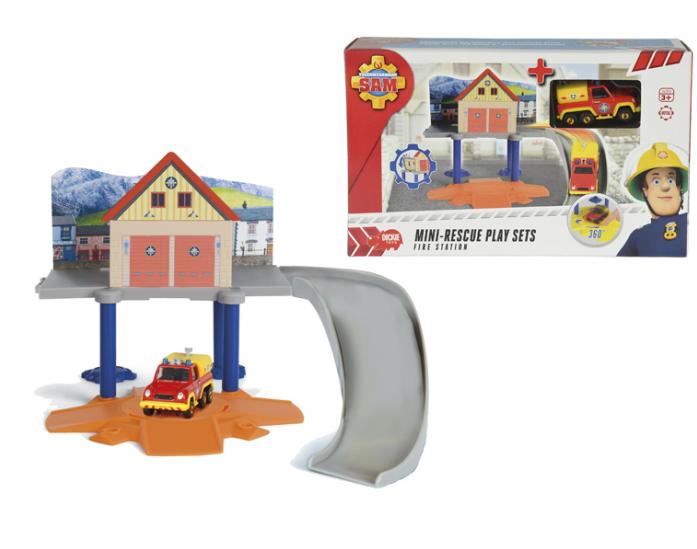 Игровой набор Dickie Пожарный Сэм Гараж пожарный маленький+1 машинка 3099619