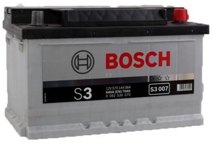 Аккумулятор Bosch 70 A/ч S30 07 низк ОБР