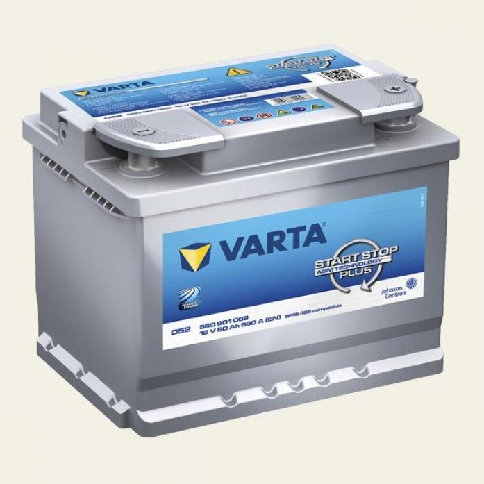 Аккумулятор VARTA SILVER AGM 60 А/ч 560901 ОБР D52