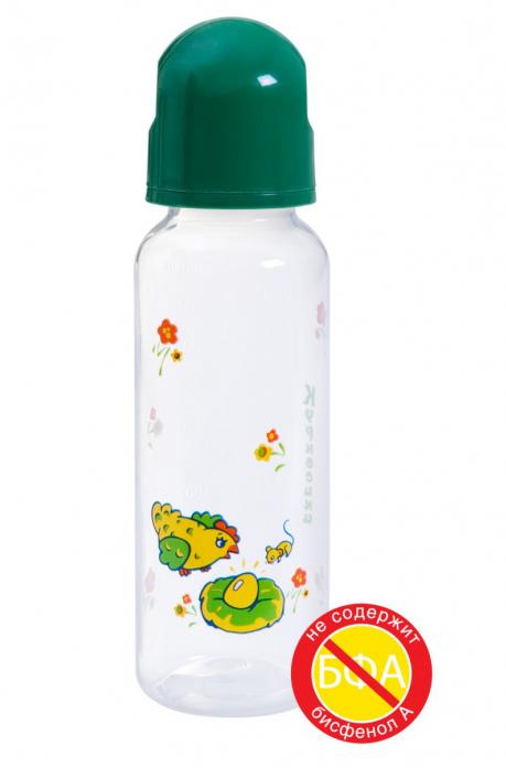 Бутылочка Курносики MF 250 мл полипропиленовая с силиконовой соской 11112