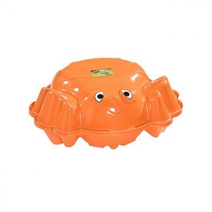Песочница с крышкой KHW Пчелка 72012 оранжевый