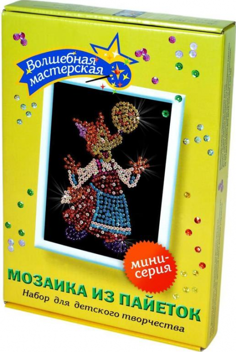 Мозаика из пайеток Волшебная мастерская Лисичка М006