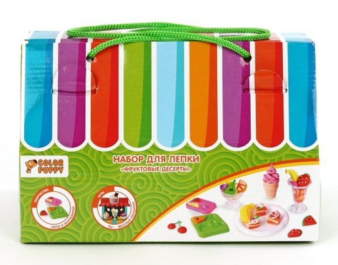 Набор для лепки Color Puppy Фруктовые десерты 120 г+аксессуары 631029