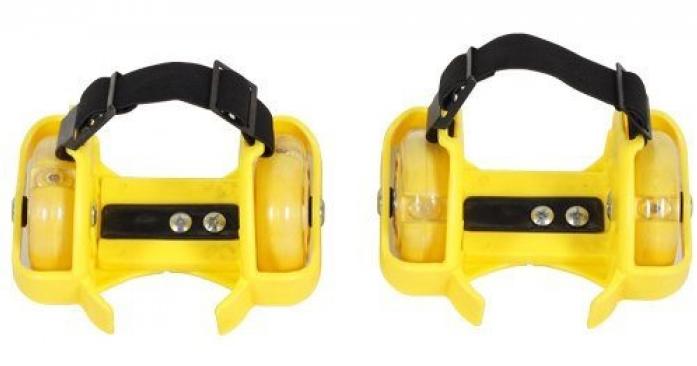 Ролики Moby Kids Двухколесные с подсветкой желтые635101