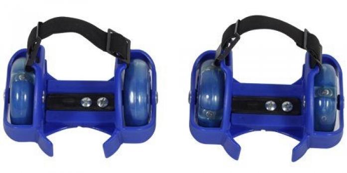 Ролики Moby Kids Двухколесные с подсветкой синие 635103