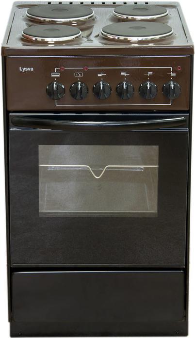 Электрическая плита Лысьва ЭП 403 коричневая без крышки